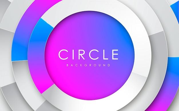 Cercle 3d abstrait blanc avec dégradé Vecteur Premium