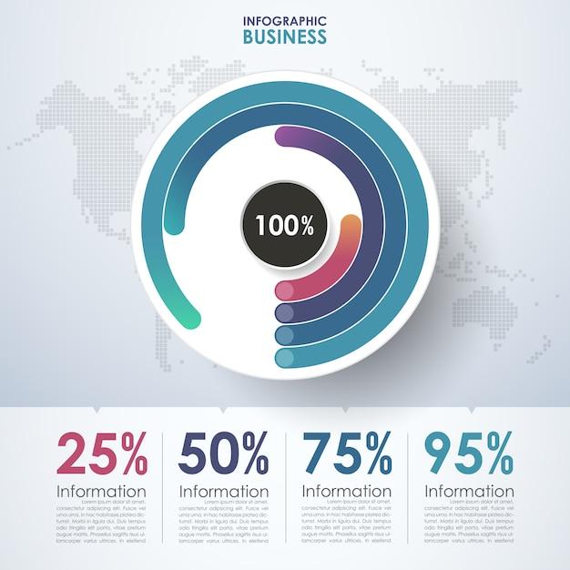 Cercle d'affaires infographique Vecteur Premium