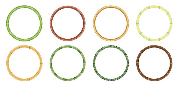 Cercle De Bambou Vecteur Premium