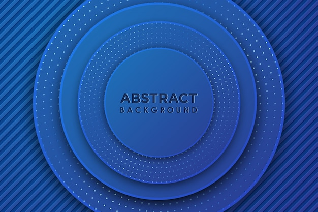 Cercle Bleu Abstrait 3d Avec Combinaison De Points Brillants Vecteur Premium