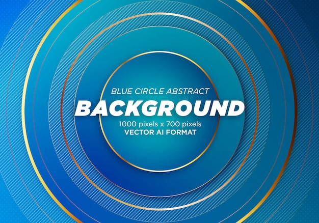 Cercle bleu abstrait Vecteur Premium