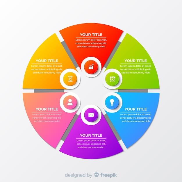 Cercle infographique Vecteur gratuit