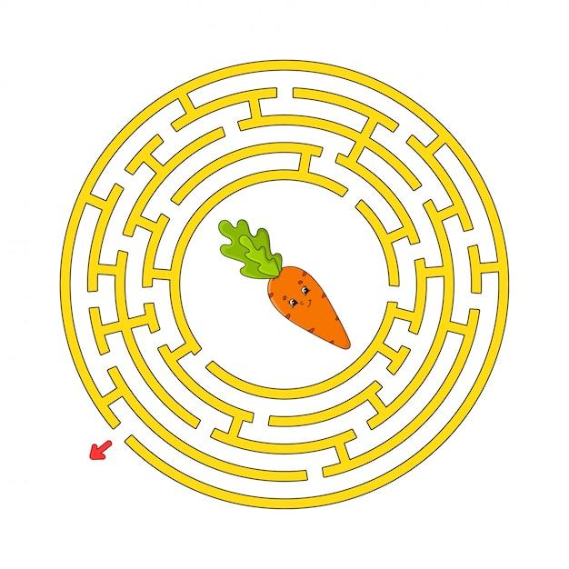 Cercle Labyrinthe Drôle. Vecteur Premium