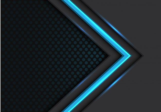 Cercle de lumière bleue direction cercle sombre Vecteur Premium