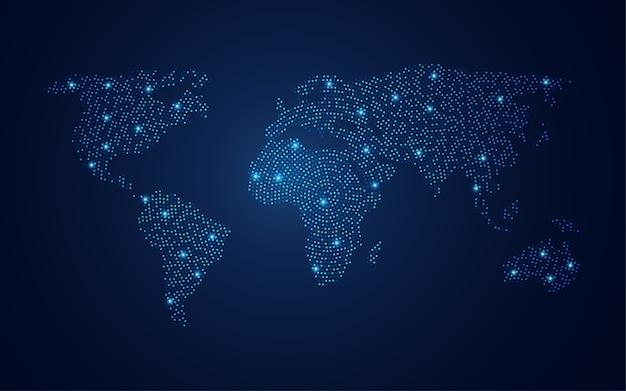 Cercle De Monde Vecteur Premium