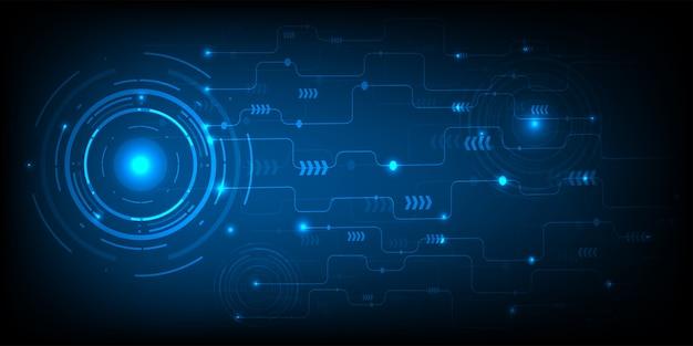 Cercle technologique et commerce numérique Vecteur Premium