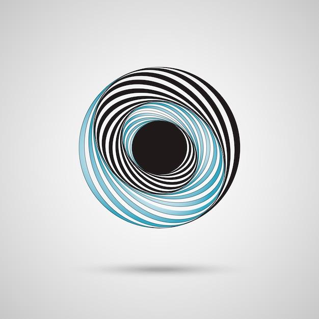 Cercle de tourbillon abstrait Vecteur Premium