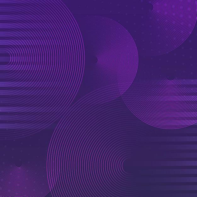 Cercle violet motif de fond vecteur Vecteur gratuit