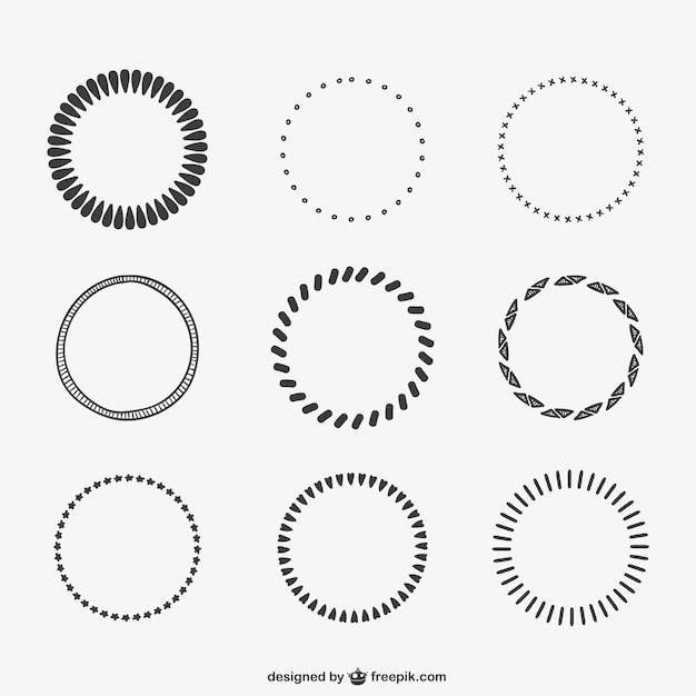 Cercles Calligraphiques Vecteur gratuit