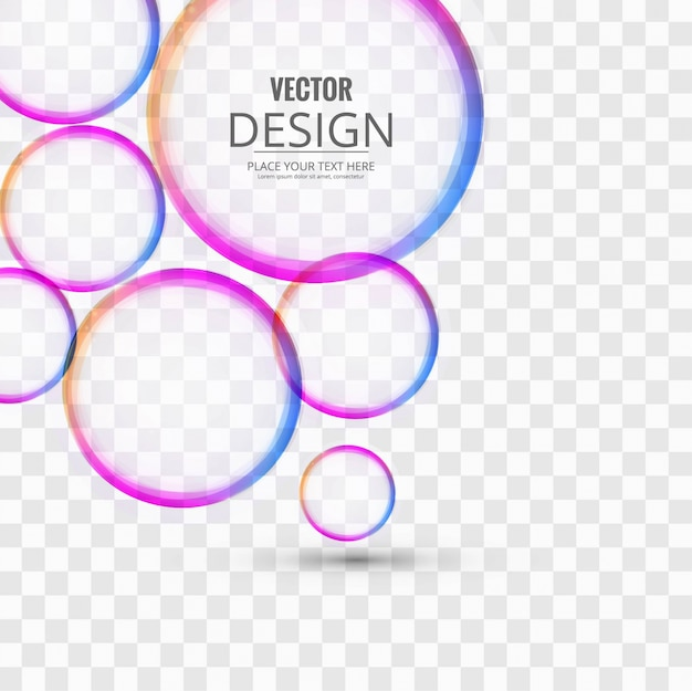 cercles colorés de fond Vecteur gratuit