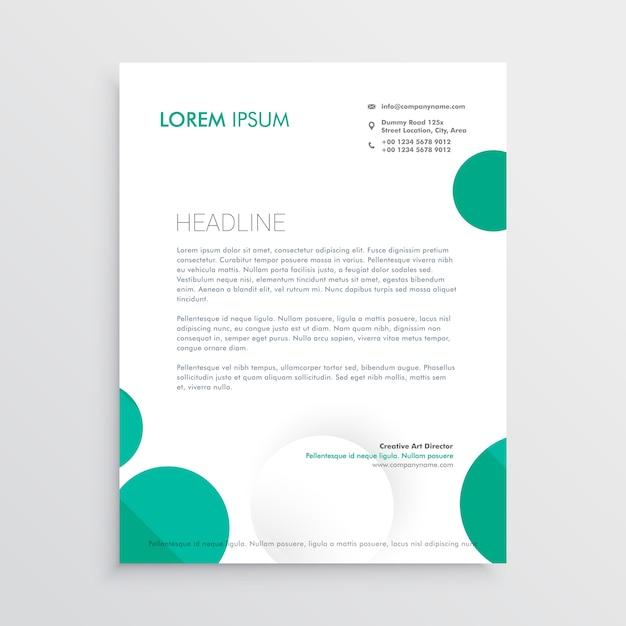 cercles créatifs papier à en-tête design template vecteur Vecteur gratuit