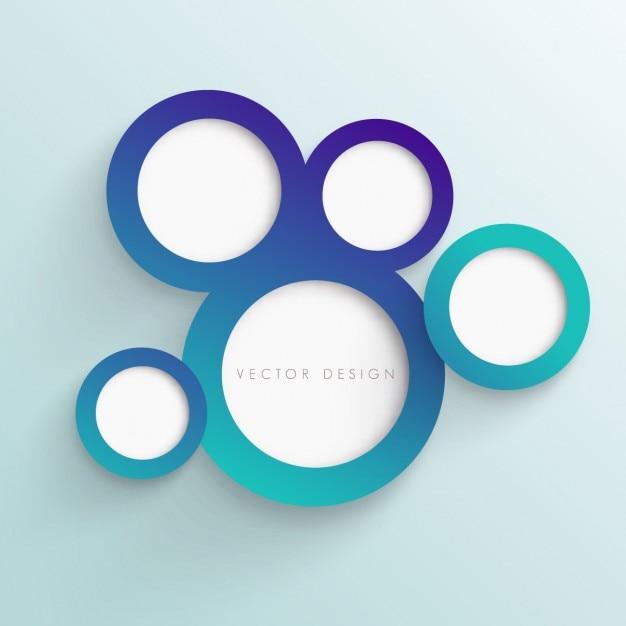 Cercles Fond Turquoise Vecteur gratuit