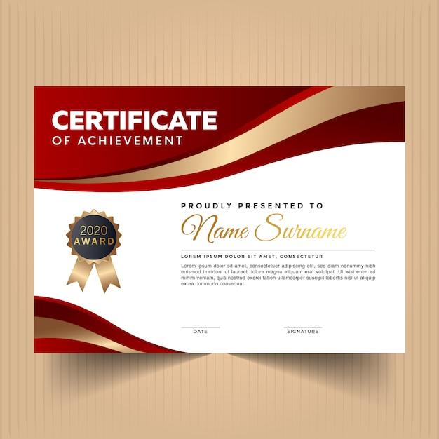 Certificat D'appréciation Au Design Moderne Vecteur Premium