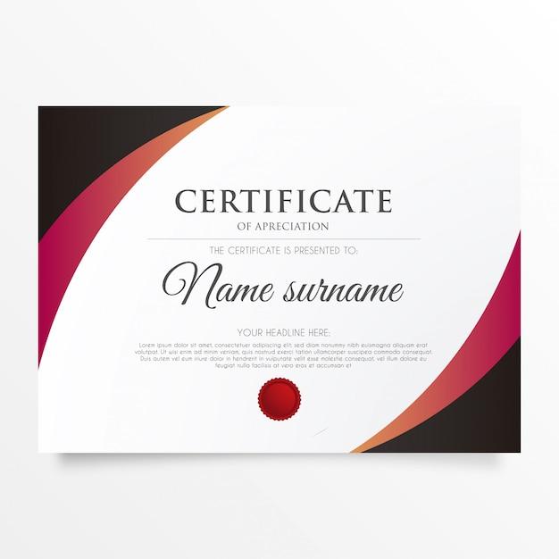 Certificat d'appréciation moderne Vecteur gratuit