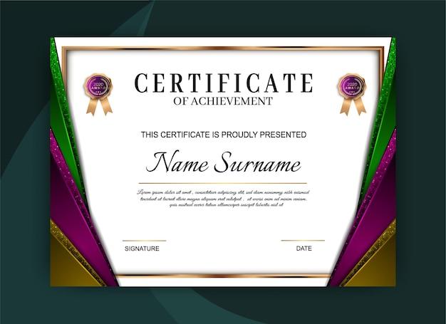 Certificat De Conception De Modèle De Réussite Vecteur Premium