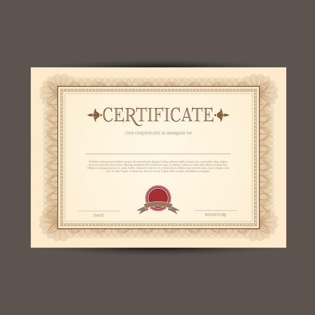Certificat ou diplôme modèle   Télécharger des Vecteurs ...