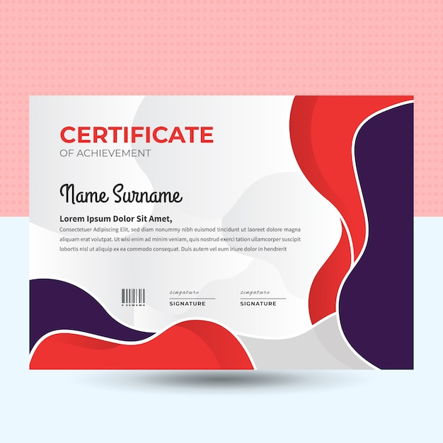 Certificat d'entreprise Vecteur Premium