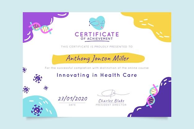 Certificat Médical Abstrait Ressemblant à Un Enfant Vecteur gratuit