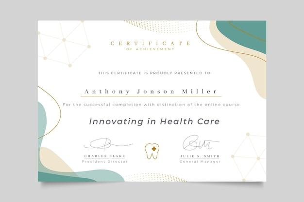 Certificat Médical élégant Abstrait Vecteur gratuit