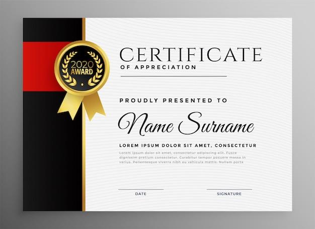 Certificat de réussite avec badge Vecteur gratuit