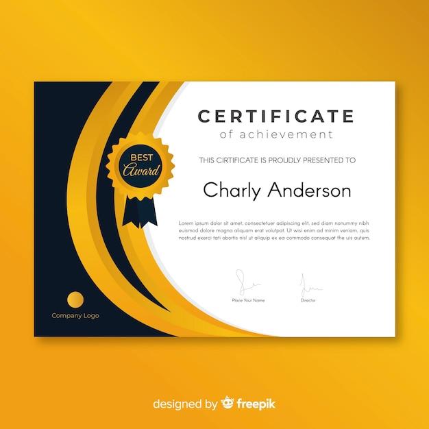 Certificat de réussite Vecteur gratuit