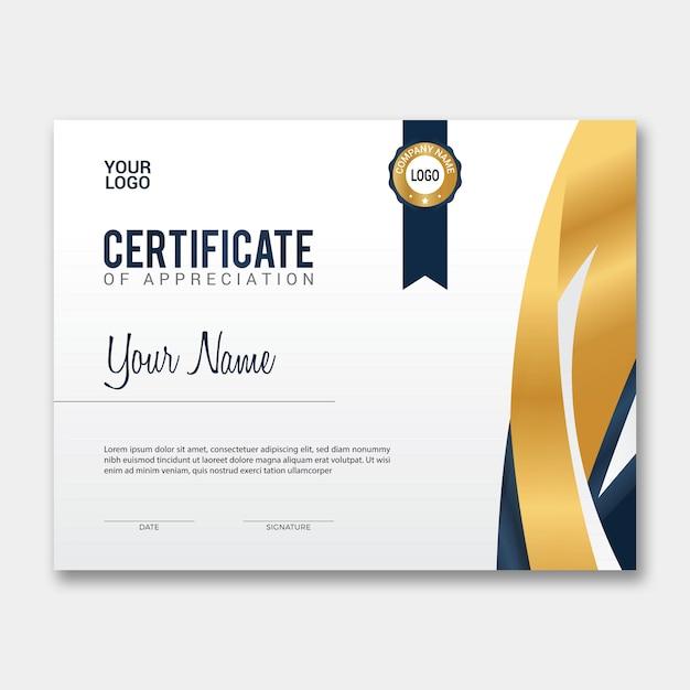 Certificat de vecteur Vecteur Premium