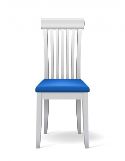 Chaise réaliste en 3d Vecteur gratuit