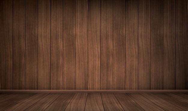 Chambre En Bois Vide Vecteur gratuit