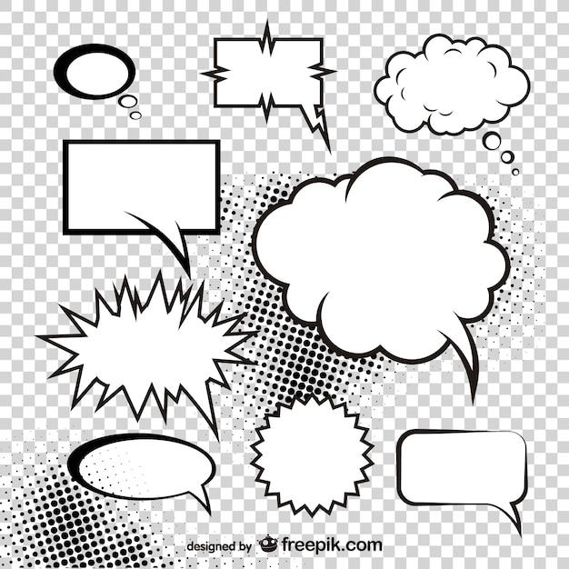 champignon atomique du vecteur boîte de style de dialogue comique Vecteur gratuit