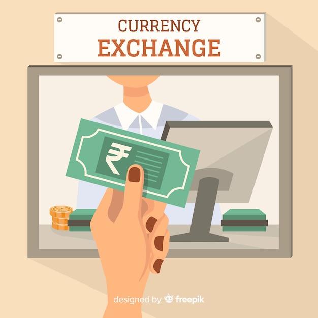 Change de roupie indienne Vecteur gratuit