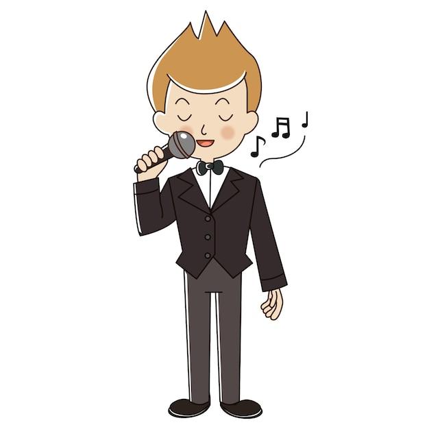 Chanteur d'occupation. Vecteur Premium