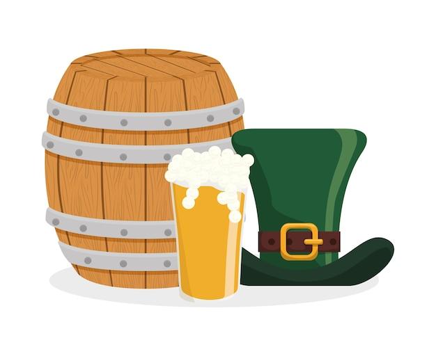 profiter de prix discount ramasser nouvelle collection Chapeau de bière en verre et tonneau en bois | Télécharger ...