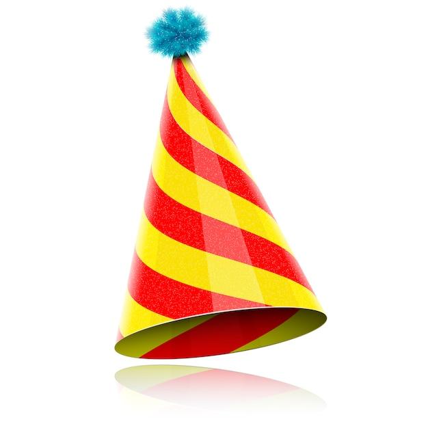 Chapeau brillant coloré pour la fête Vecteur Premium