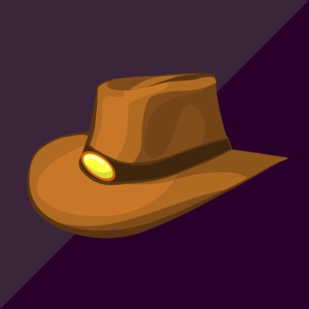 Chapeau de cowboy isométrique Vecteur Premium
