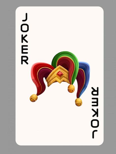 Chapeau De Joker De Carte à Jouer Vecteur Premium