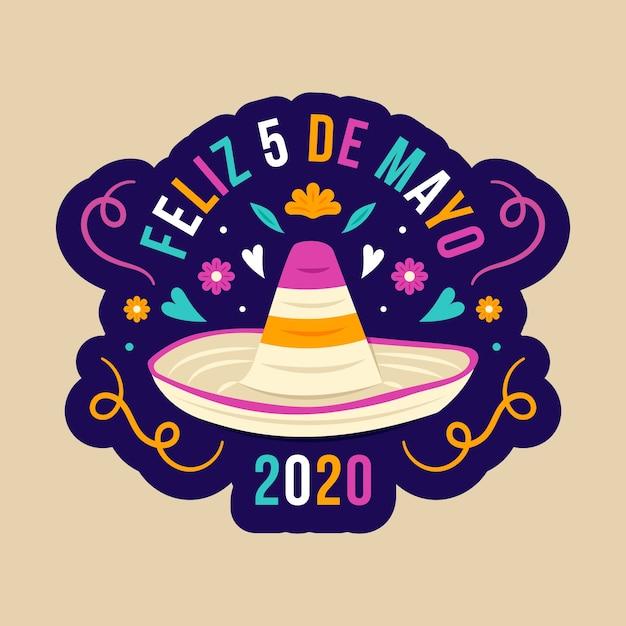 Chapeau Mexicain Design Plat Créatif Vecteur gratuit