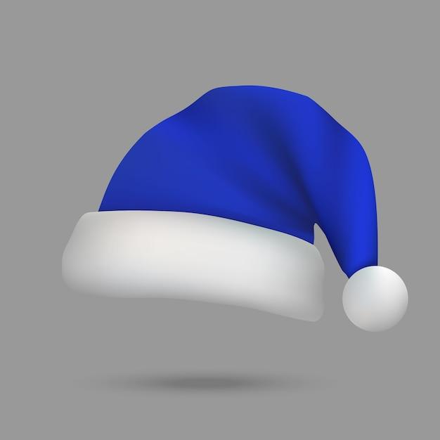 Chapeau De Noël Père Noël Isolé Vecteur Premium