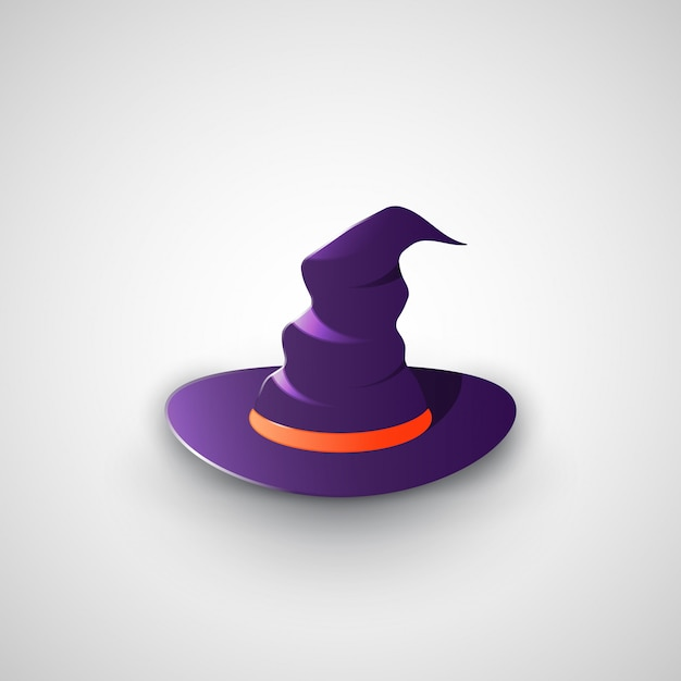 Chapeau de sorcière Vecteur Premium