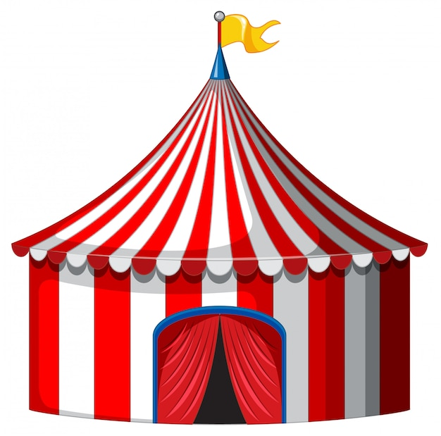 Chapiteau De Cirque De Couleur Rouge Et Blanc Vecteur gratuit