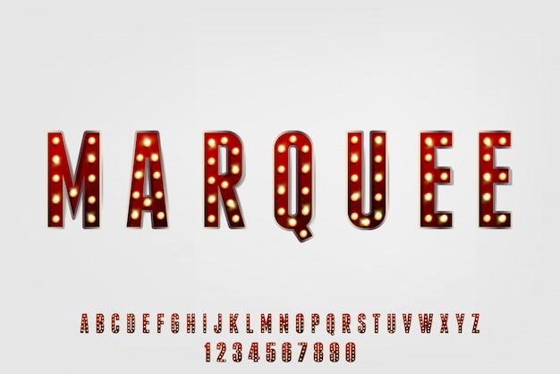 Chapiteau, Une Police Alphabet Vintage Abstraite Avec Thème Carnaval. Conception De Typographie Classique Et Festive Vecteur Premium