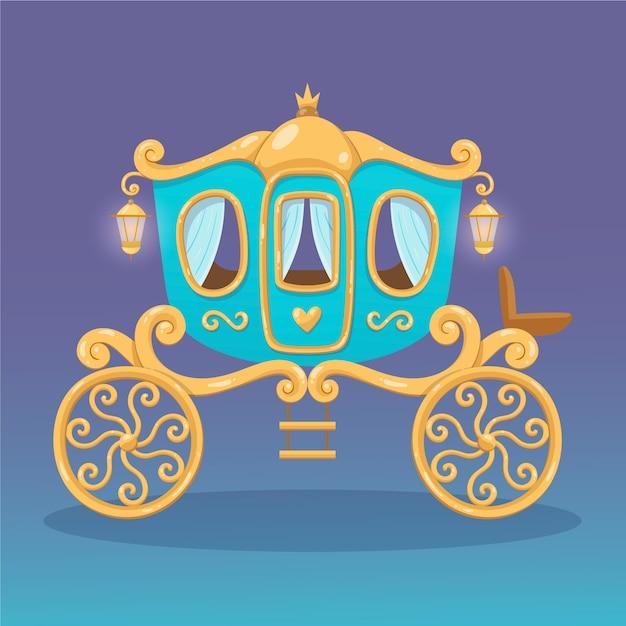 Chariot De Conte De Fées Créatif Vecteur gratuit