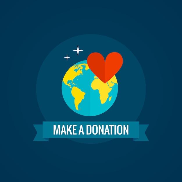 Charité et donation Vecteur gratuit