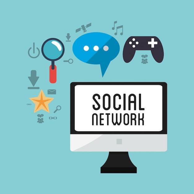 Jeu d'infographie de réseau social | télécharger des vecteurs.