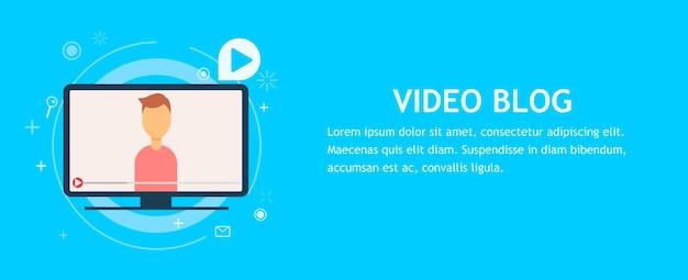 Chat vidéo en ligne avec un homme Vecteur gratuit