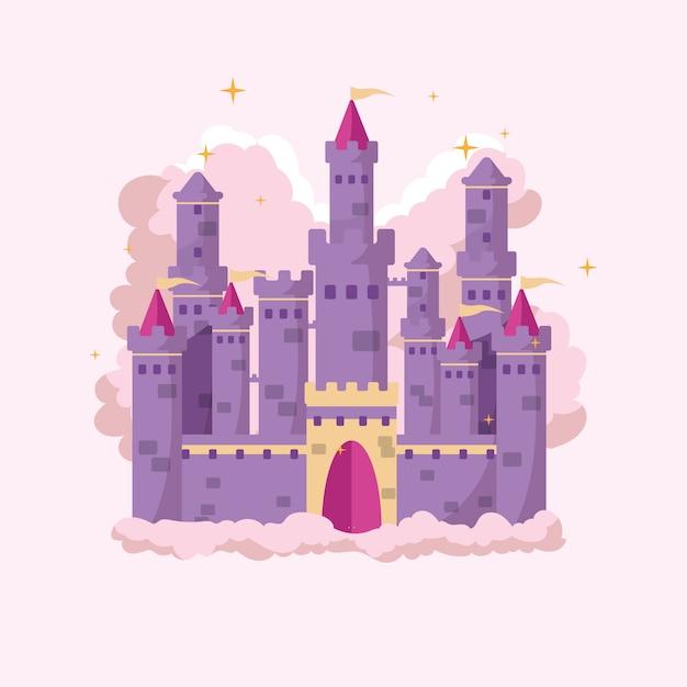 Château De Conte De Fées Créatif Illustré Vecteur gratuit