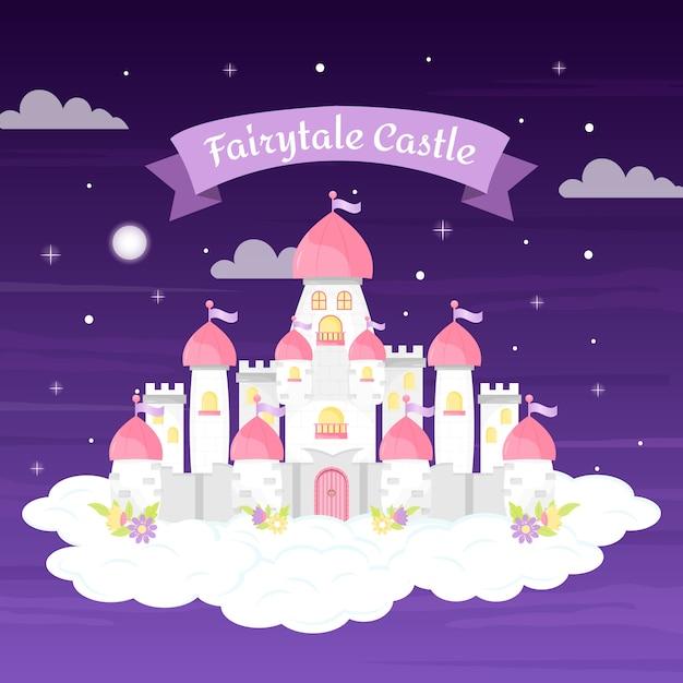 Château De Conte De Fées Créatif Vecteur gratuit
