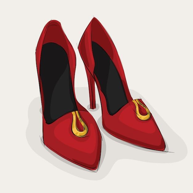Chaussures en cuir classique Vecteur Premium