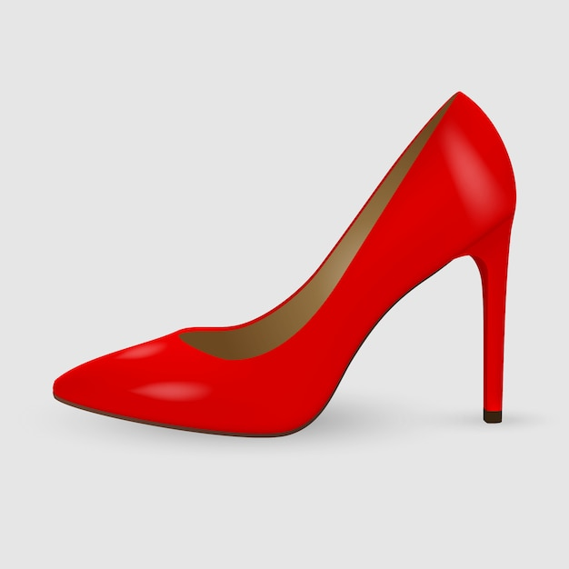 Chaussures femme réalistes Vecteur Premium