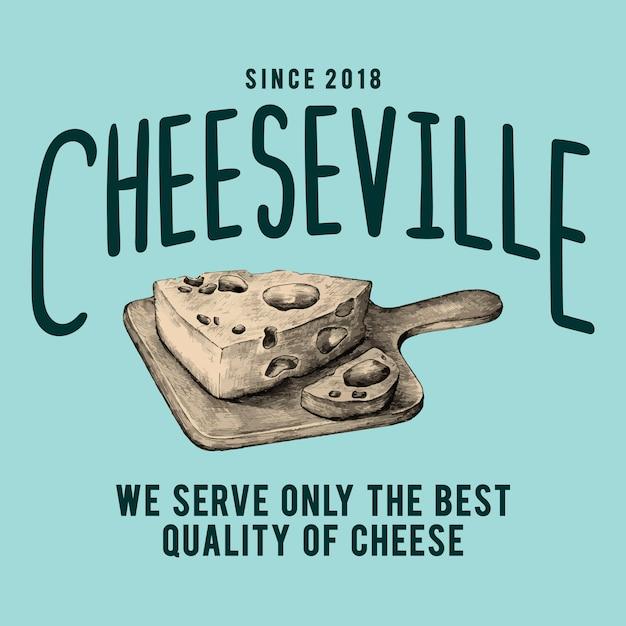 Cheeseville shop vecteur de conception de logo Vecteur gratuit