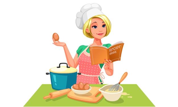 Chef cuisinier Vecteur Premium